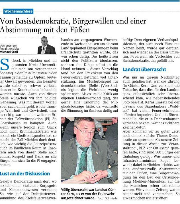 Rhein-Lahn Zeitung 26.11.2011