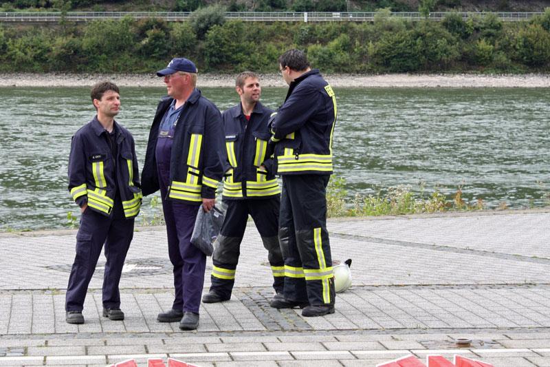 Gespräch unter Feuerwehrleuten