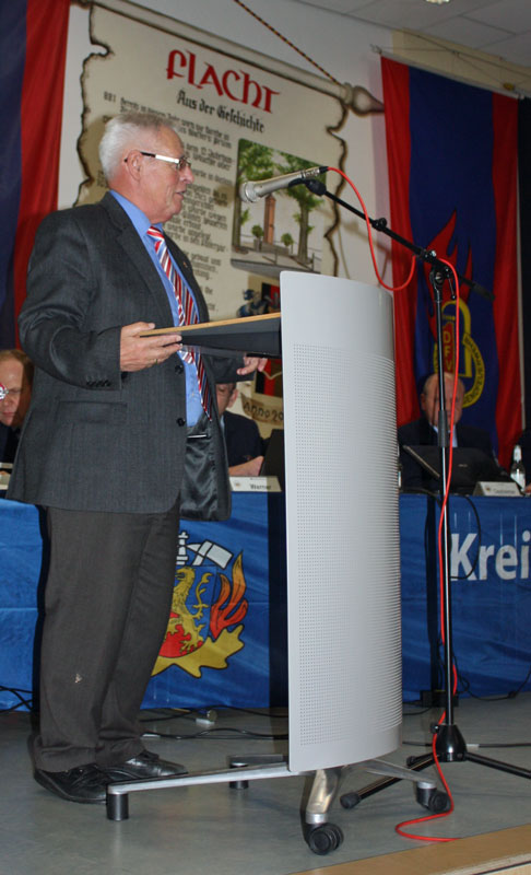 1. Kreisbeigeordneter Klöckner bei seiner Ansprache