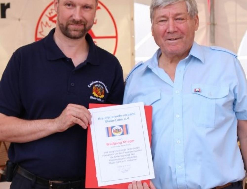 Wolfgang Krieger erhielt die Ordensspange