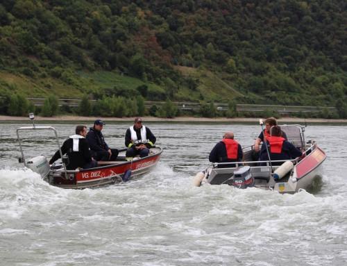 Ausbildung zukünftiger Bootsführer bei der Feuerwehr im Rhein-Lahn-Kreis
