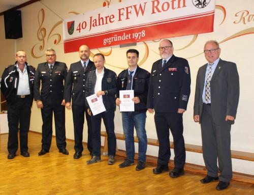 Zwei Feuerwehrmänner aus Herold wurden geehrt