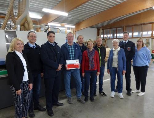 Schreinerei Müller engagiert sich stark für die Feuerwehr