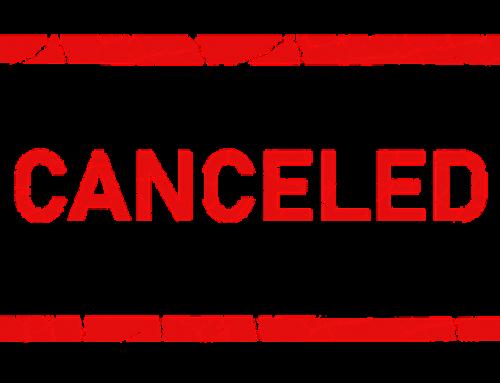 Absage von Veranstaltungen
