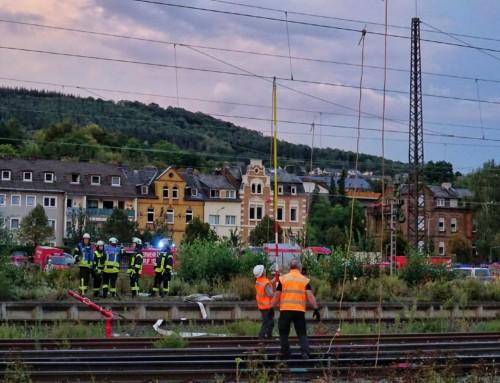 Danke für die gute Zusammenarbeit aller Organisationen beim Zugunfall in Lahnstein