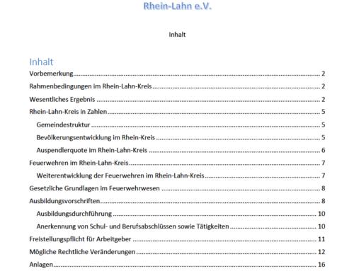 KFV beteiligte sich an der Novellierung des LBKG