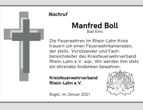 Der Kreisfeuerwehrverband trauert um Manfred Boll
