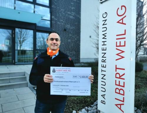 Großzüge Spende der Bauunternehmung Albert Weil